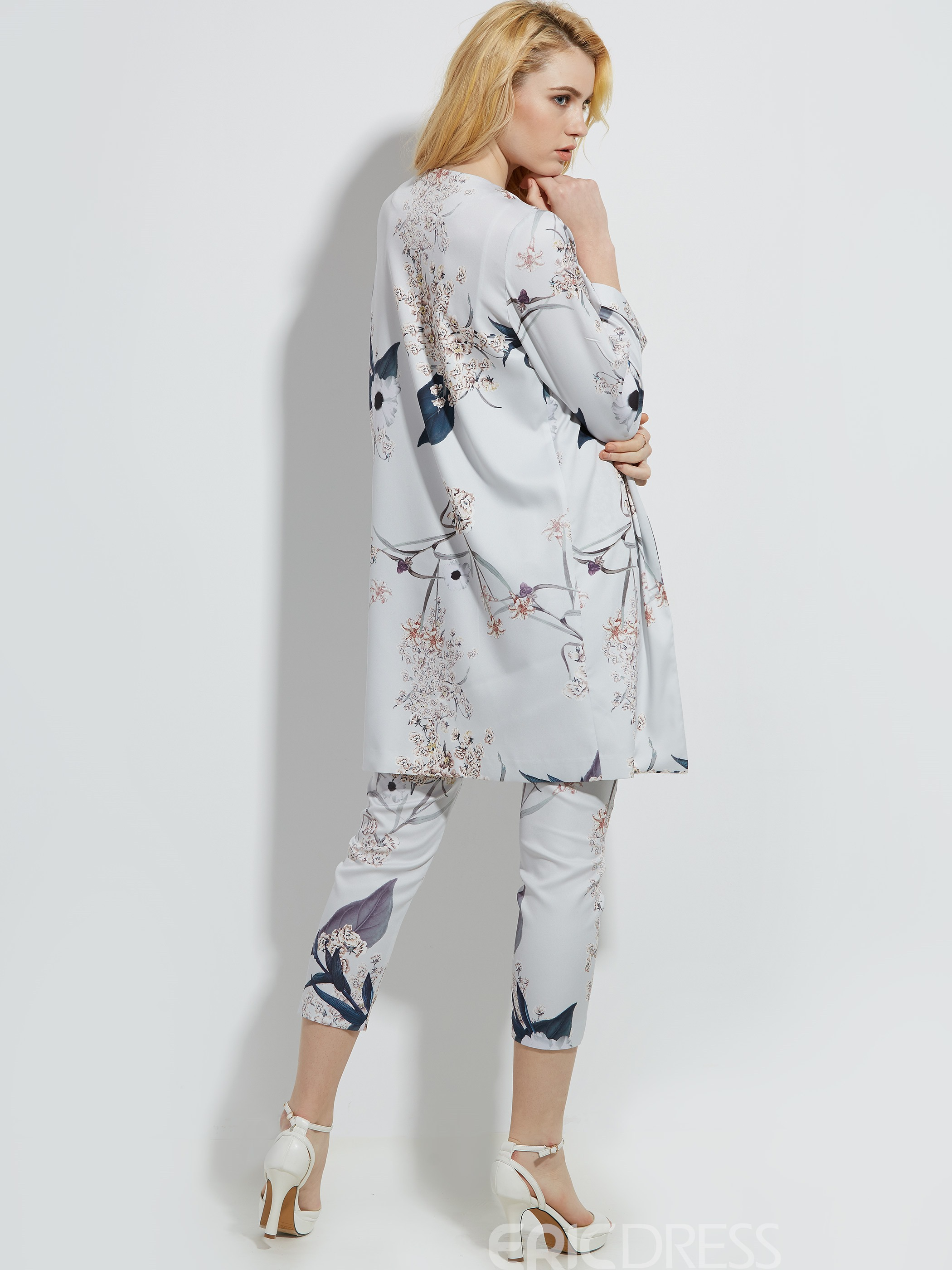 Ericdress Ankle Length Floral Pants