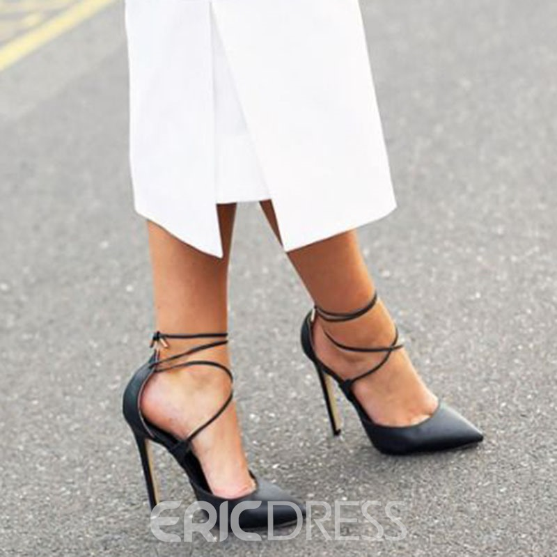 Ericdress Cross Strap Pointed Toe Pumps