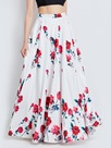 Floral Print Floor-Length Usual Skirts
