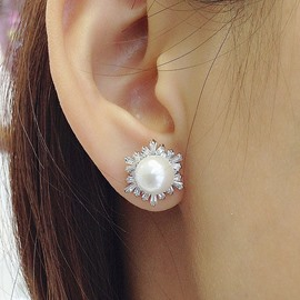 Ericdress Exquisite All Match Pearl Earring