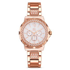 Ericdress Diamante Watch Bezel Rose Gold Women's Watch