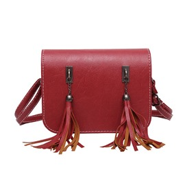 Ericdress Double Fringe Decorated Shoulder Bag