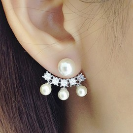 Ericdress Graceful Diamante Pearl Earring for Women