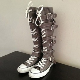 Cross Strap Buckle Women's Boots