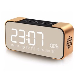 Ericdress PTH 305 Portable Wireless Bluetooth Speaker HiFi Bass Support Display Time & Alarm Clock Function