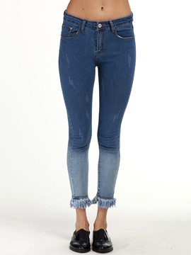 Ericdress Low Waisted Tight Women's Jeans