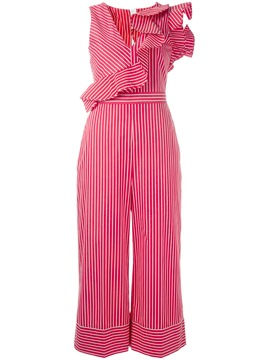 Ericdress Stripe Wide Leg Ruffles Women's Jumpsuit