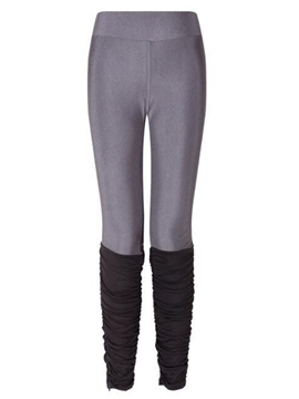 Ericdress Color Block Mid-Waist Leggings Pants