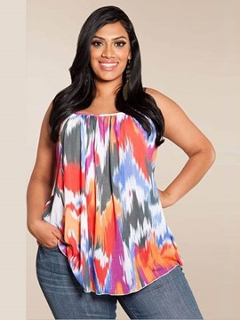 Ericdress Colorful Plus Size Tank Top