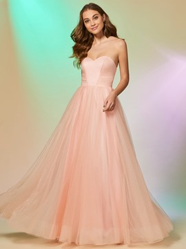 Ericdress A Line Sweetheart Floor Length Long Prom Dress