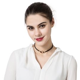 Ericdress Stylish Circle Black Choker Necklace