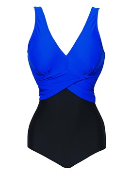 Ericdress Sexy Deep V-Neck Pleated Monokini