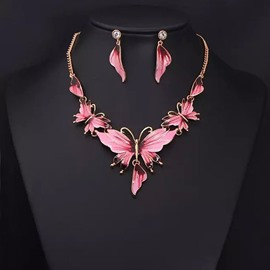 Ericdress Fabulous Butterfly Pendant Jewelry Set