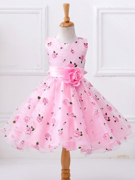 Ericdoress Floral Embroidery TuTu Girls Dress