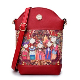 Ericdress Personality Opera Figure Print Crossbody Bag