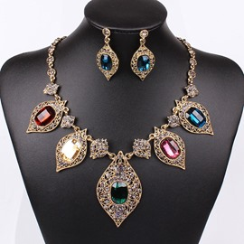 Ericdress Colored Sapphire Inlay Jewelry Set for Wedding
