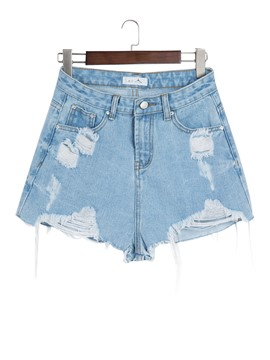 Slim Worn Ripped Women's Shorts