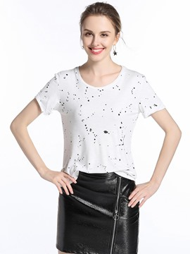 Ericdress Polka Dots Comfy T-Shirt