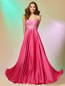 Ericdress A Line Sweetheart Applique Long Prom Dress