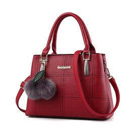 Ericdress Korean Stereo Plaid Handbag