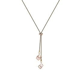 Ericdress OL Style Rose Gold Square Pednant Long Necklace