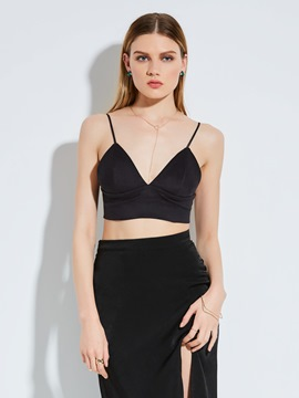 Ericdress Sheath Spaghetti Straps Backless Tank Top