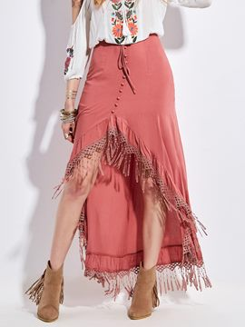 Ericdress High Waisted Tassels Women's Skirts
