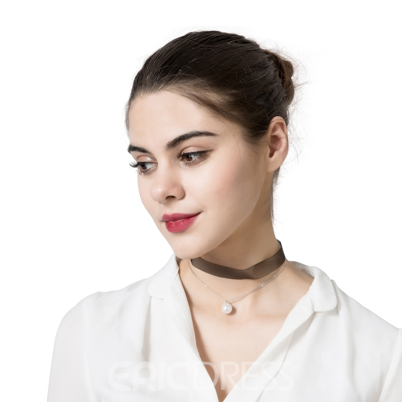 Ericdress Alluring Double-Layer Pearl Choker