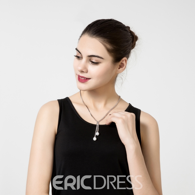 Ericdress Fabulous Y-Shaped Pearl Necklace for Women