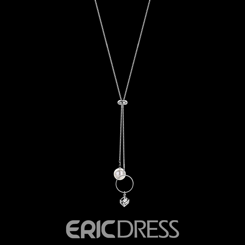 Ericdress Concise Design Imitation Pearl Pendant Women's Necklace
