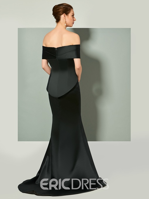 Ericdress Off The Shoulder Mermaid Evening Dress With Slit Front