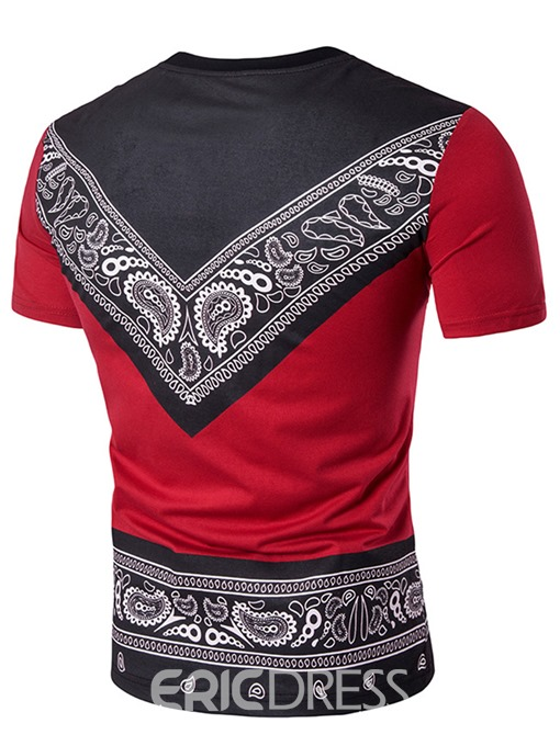 Ericdress African Fashion Print Mens Loose T-shirt