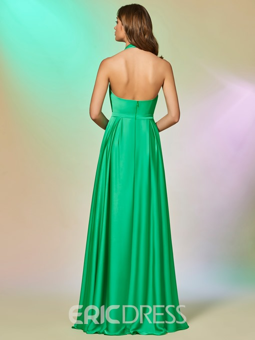 Ericdress A Line Halter Applique Backless Prom Dress