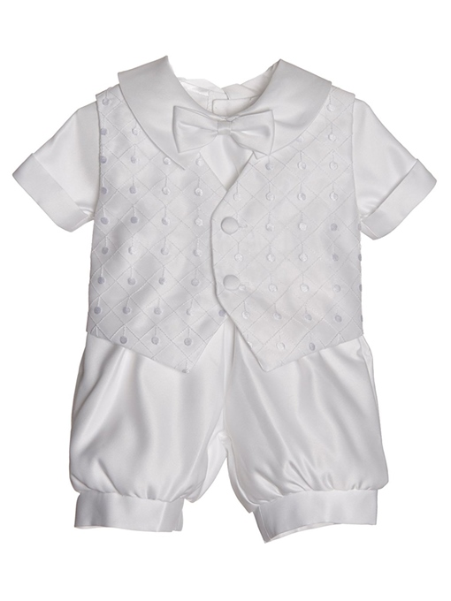 Ericdress Baby Boy's 2-Pieces Romper Christening Gown with Bonnet