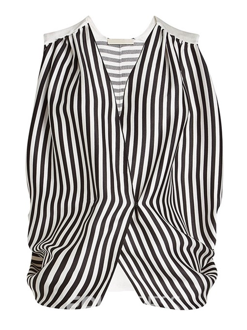 Ericdress Stripe V-Neck Sleeveless Womens Top