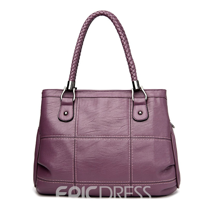 Ericdress Simple Plaid Thread Patchwork Handbag