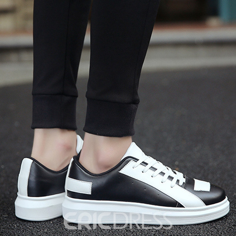 Ericdress Fashionable PU Color Block Men's Casual Shoes