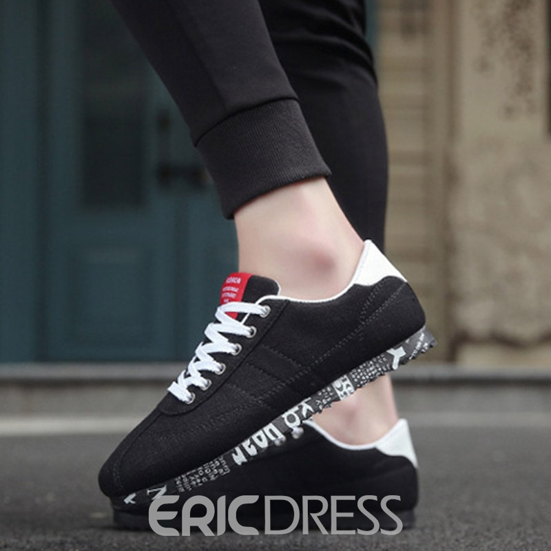 Ericdress New Lace up Men's Canvas Shoes