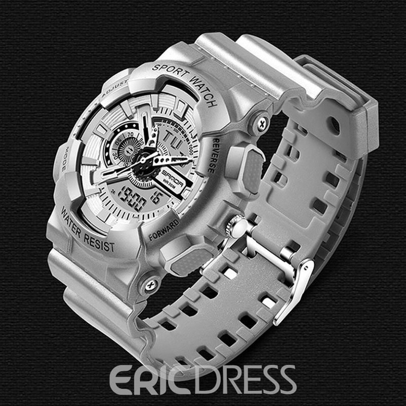 Ericdress Digtial LED Light Night Display Men's Sport Watch