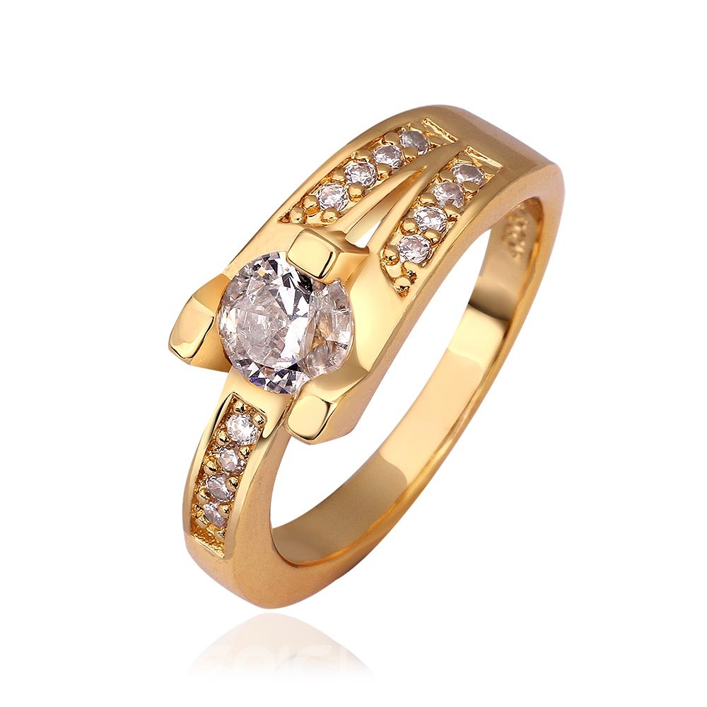 Ericdress Prong Setting Round Cut Zircon Wedding Ring