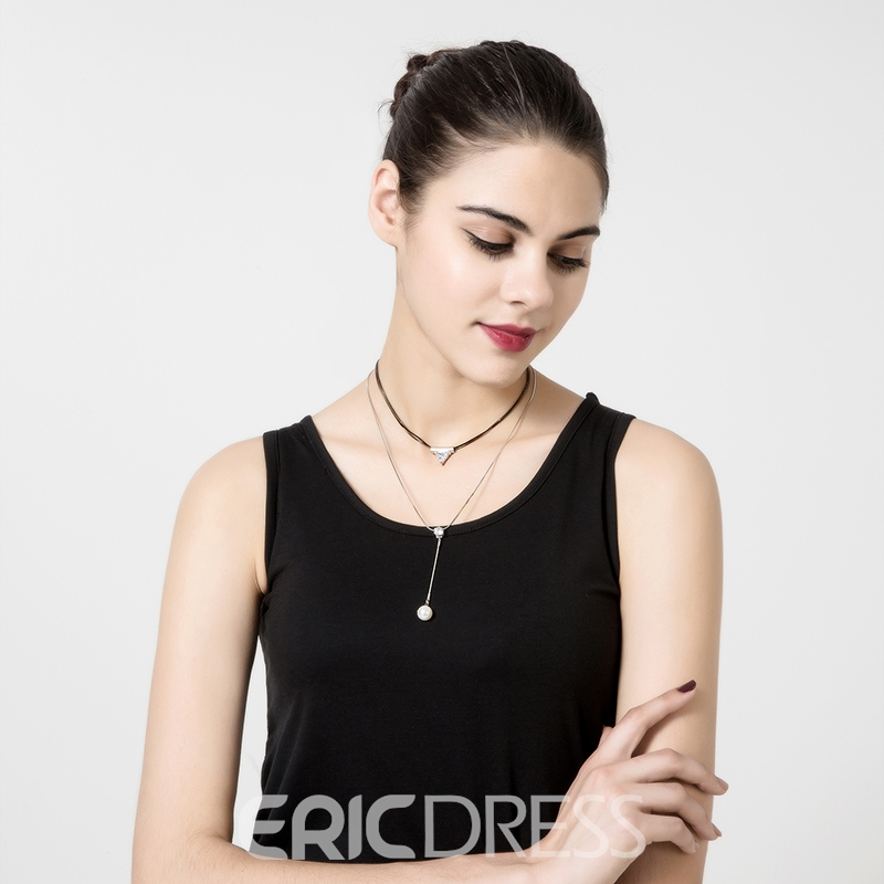 Ericdress Exquisite Double-Layer Pearl Pendant Necklace