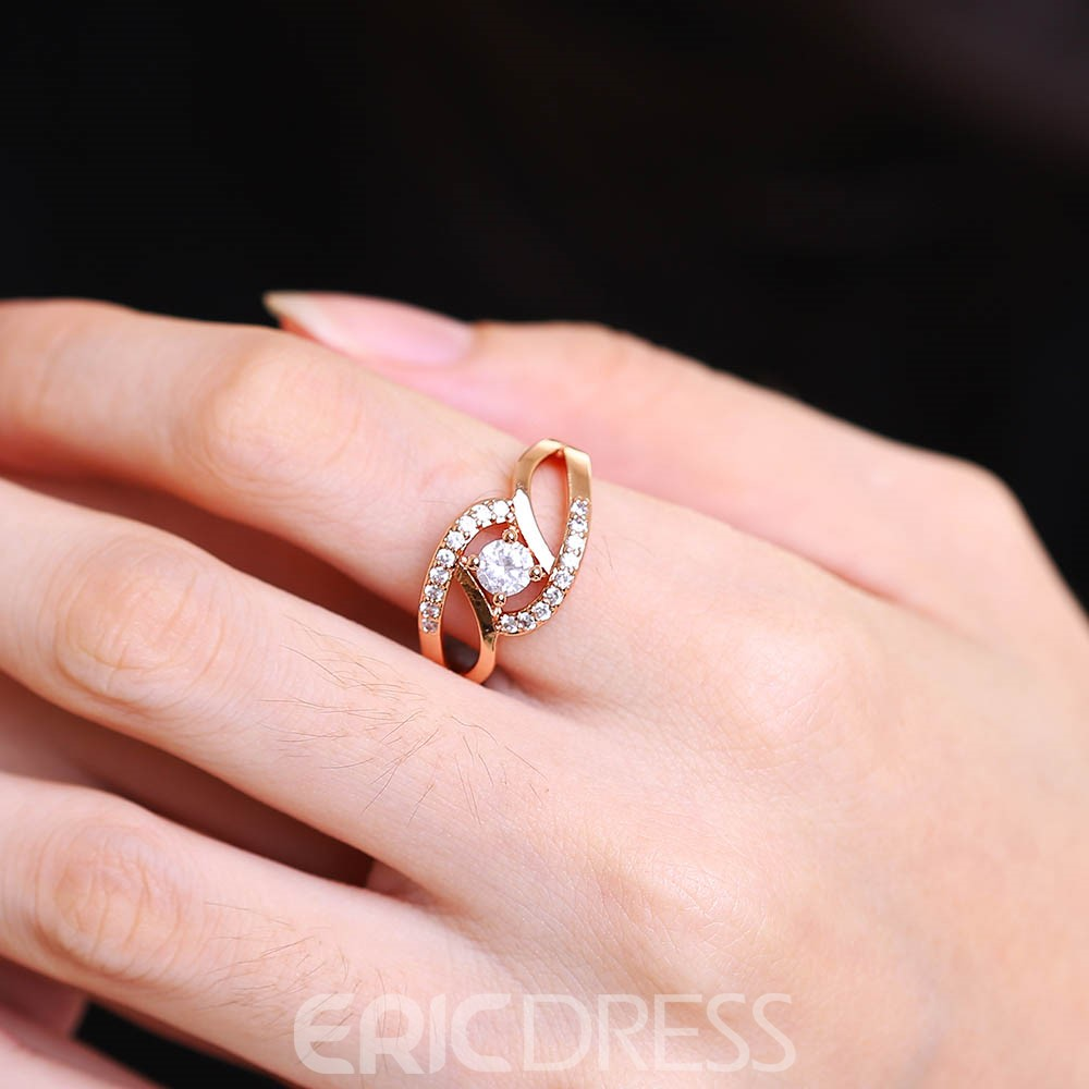 Ericdress Special Round Cut White Sapphire Wedding Ring