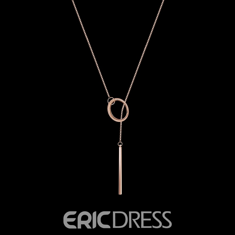 Ericdress OL Style Circle Rose Gold Necklace