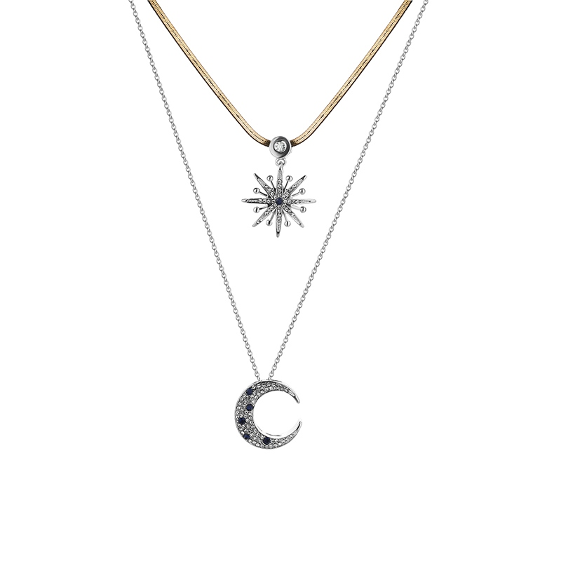 Ericdress Charming Star & Moon Pendant Necklace