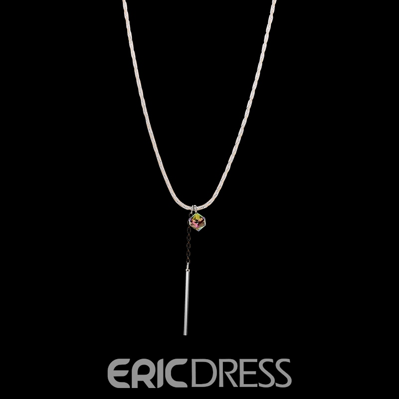 Ericdress Diamante Pendant Shining Women's Necklace