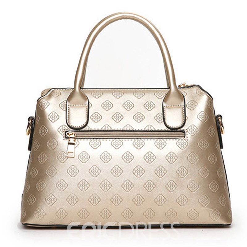 Ericdress Casual Geometric Embossing Shell Handbag