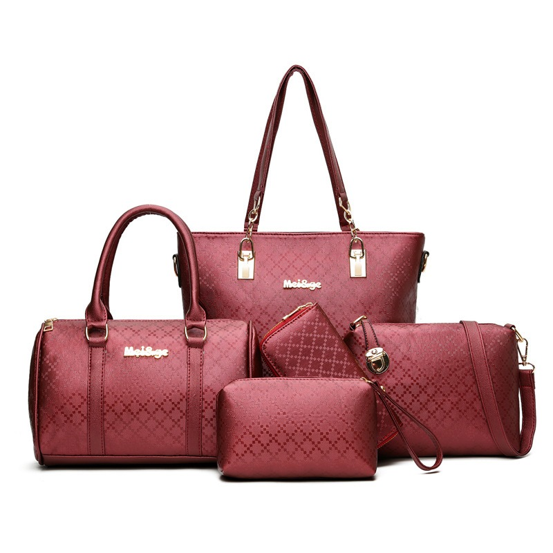 Ericdress Multifunction Vogue Plaid Thread Decorated Handbags (5 Bags)