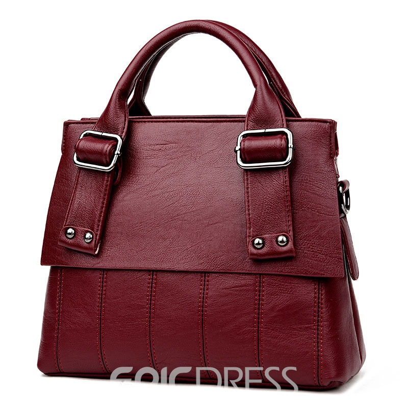 Ericdress Elegant Style Stripe Belt Decorated Handbag