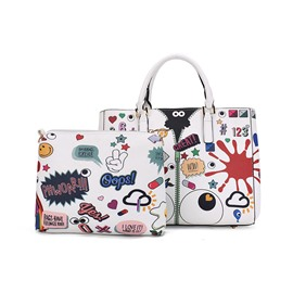 Ericdress Fashion Graffiti Printing Handbag(2 Bags)