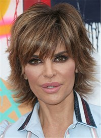 Ericdress Lisa Rinna Layered Short Synthetic Straight Hair Razor Cut Women Capless Wig 8 Inches